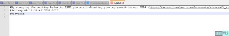 Aceptar EULA para Minecraft Server en Windows