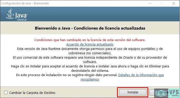 Instalación de Java en Windows