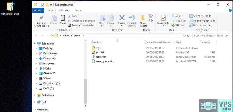 Instalar Minecraft Server Vanilla en Windows